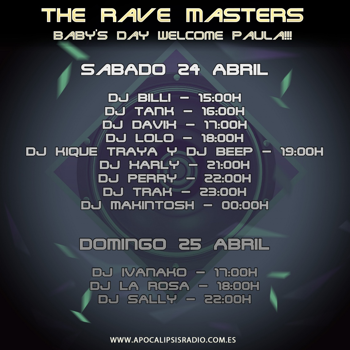 The Rave Masters - Baby's Day Welcome Paula!!!